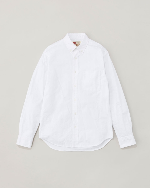 【MEN'S】B.D. SHIRTS WITH PATCH ボタンダウンシャツ ウィズ パッチ