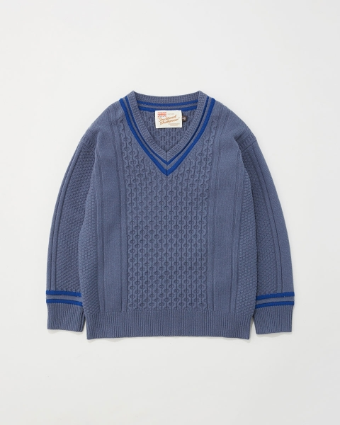 【MEN'S】CABLE TILDEN V-NECK KNIT