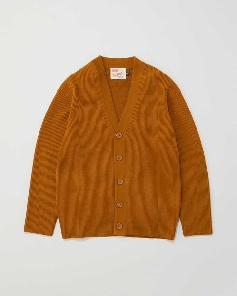 【MEN'S】RIB STITCH V-NECK CARDIGAN