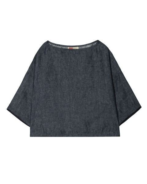 BOAT NECK TOP WITH TAPE ボートネック トップ ウィズ テープ