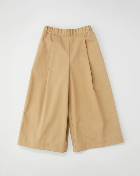 ELASTIC WAIST CROPPED PANTS