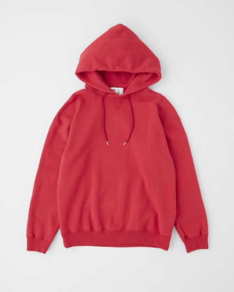【MEN'S】QUILTED PACTH  CREW NECK PULL OVER PARKA