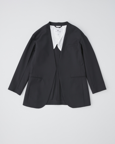 NO COLLAR V-NECK JACKET