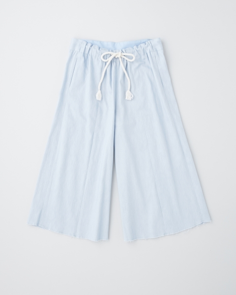 CUT OFF WIDE CROPPED PANTS