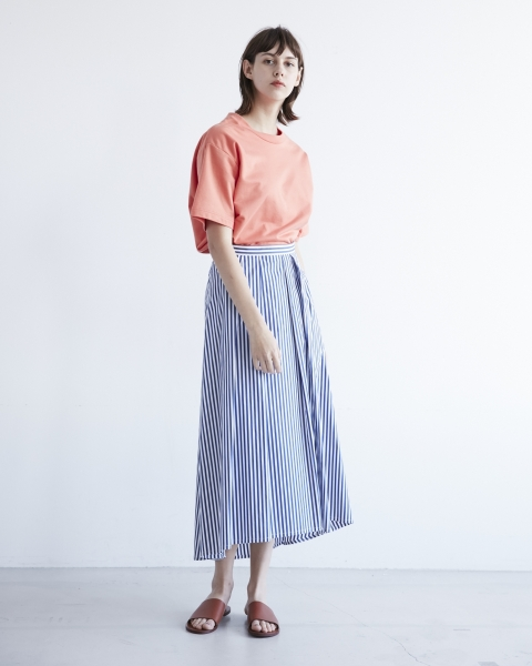 GATHERED VOLUME LONG SKIRT